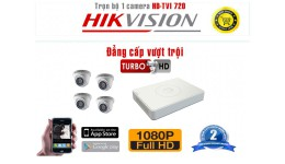 Bộ camera HD -TVI 720 x 4 Dome